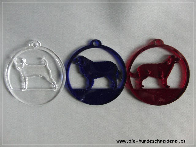 Hundeanhaeger Fensterbilder Acryl Hunderasse